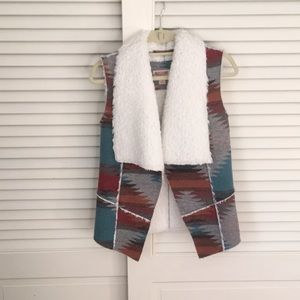 Mossimo Supply Co Aztec print vest size S